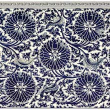 Floral design from a blue-and-white china cistern