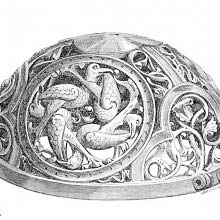 Upper part of a twelfth-century hand-warmer with openwork decoration