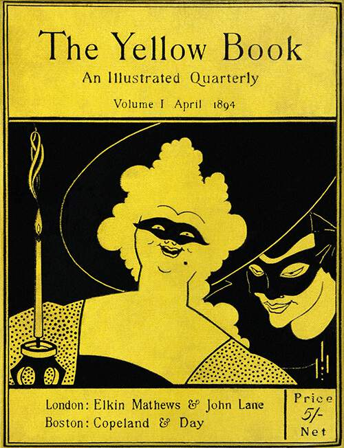 Front cover of the first issue of the Yellow Book