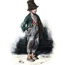 Full-length portrait of a boy working as a chimney sweep