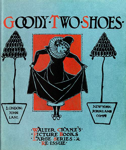 Front cover of Goody-Two-Shoes showing a girl pulling her dress above her ankles