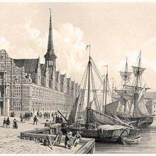 View of Børsen with Christianborg Palace in the backround, Copenhagen