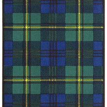 Tartan of the Clan Johnstone showing a pattern of green and blue check