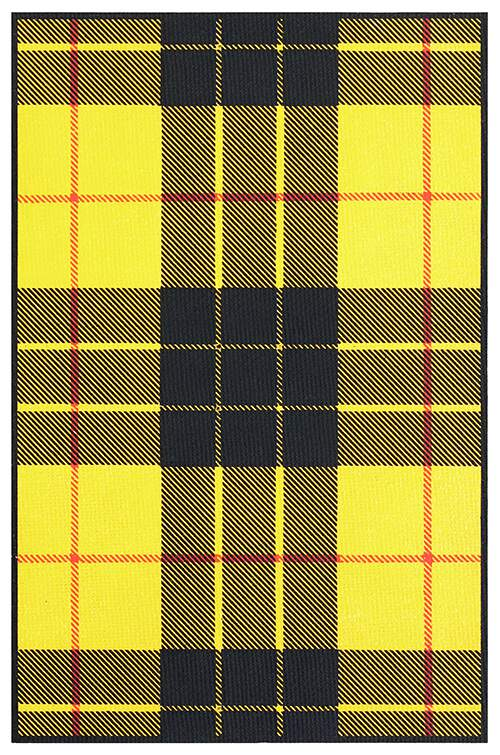 MacLeod of Lewis tartan showing a pattern of yellow and black check