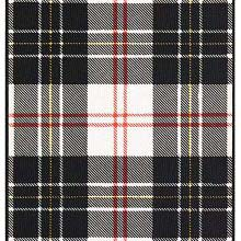Tartan of the Clan Macpherson showing a pattern of white and black check