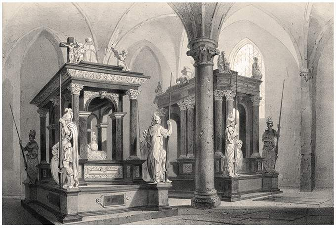 Tombs of Christian III and Frederick II of Denmark in Roskilde Cathedral