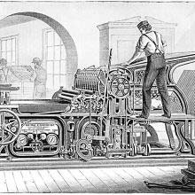 The four-roller, two-revolution press constructed by Cottrell & Babcock