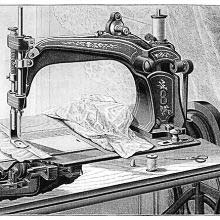 Rotary-hook sewing machine manufactured by Wheeler & Wilson, New York