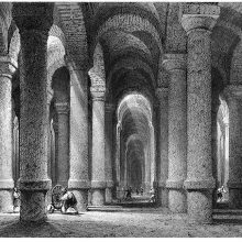 Cistern of Philoxenos in Istambul, where it was built in the fifth century