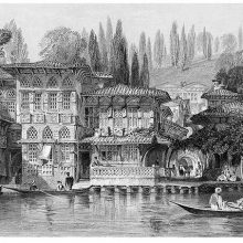 View of an opulent and elaborate house on the Bosphorus shore