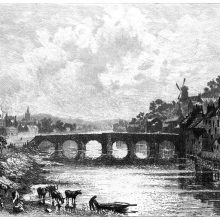 The Old Bridge, also known as Devorgilla Bridge, on the River Nith at Dumfries, Scotland