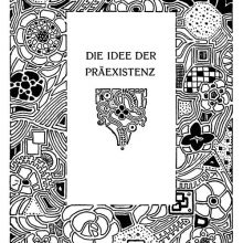 Title page for the story The Idea of Preexistence showing geometric motifs and flowers