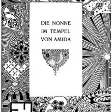 Title for the story The Nun of the Temple of Amida showing Art Nouveau decoration