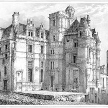 View of the Hôtel de Pincé, a sixteenth-century townhouse located in Angers
