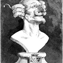Imaginary bust of Baron Munchausen whimsically attributed to Antonio Canova