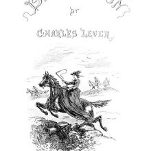Illustrated half-title showing a woman riding a horse sidesaddle about to jump over a low wall
