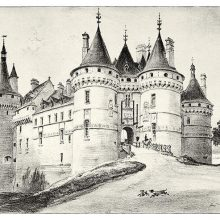 View of the Château de Chaumont, a castle located in the Loire Valley