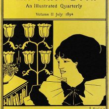 Front cover of the second issue of the Yellow Book showing a three-quarter view of a woman's face