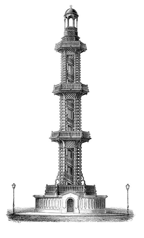 Elevation of the fountain tapping into the artesian well located in Grenelle, now a part of Paris