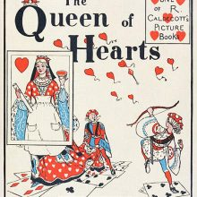 Cover to The Queen of Hearts showing the Queen the Knave of Diamonds shooting arrows