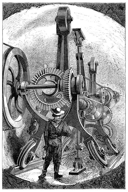 The Brunton machine was tried in 1882 in a test tunnel near Sangatte, off the first Channel Tunnel