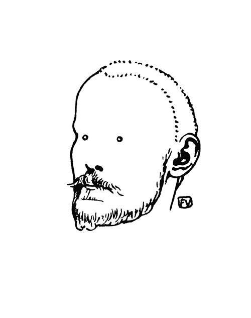 Portrait of French novelist and playwright Jules Renard (1864-1910)