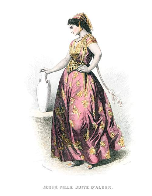 A young woman is seen from the side with one hand on her hip and the other on a jar