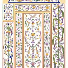 Foliate arabesque motifs from a fresco painting in the ducal palace at Mantua.