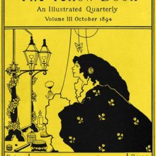 Front cover of the third issue of the Yellow Book showing a woman at her dressing table