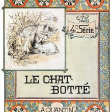 Front cover to Le Chat Botté, showing Art Nouveau design with Asian influence