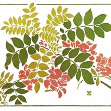 Color plate showing Art Nouveau foliage and flower decoration inspired by natural shapes