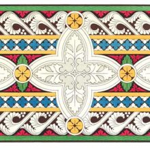 Color plate showing a decorative design with laterally repeating cross-shaped foliage motifs