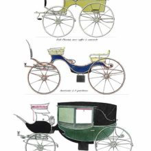 Small phaeton, American carriage in the light brett family, and enclosed barouche