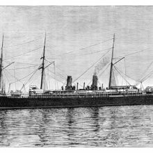 SS La Champagne, an ocean liner which sailed for the French Line on the route Le Havre-New York