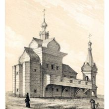 The wooden church of the Gethsemane skete, or hermitage, part of the Trinity Lavra of St. Sergius