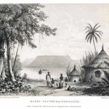 Mount Patti is seen in the distance from the east bank of the Niger River