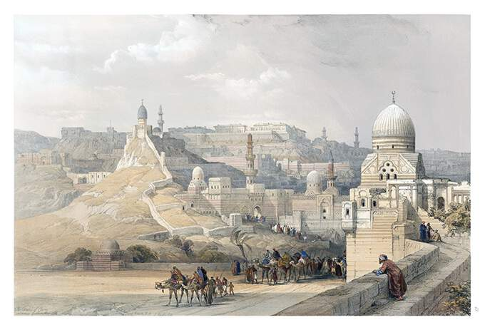 View of the Cairo Citadel, a fortress complex initiated by Saladin in 1176